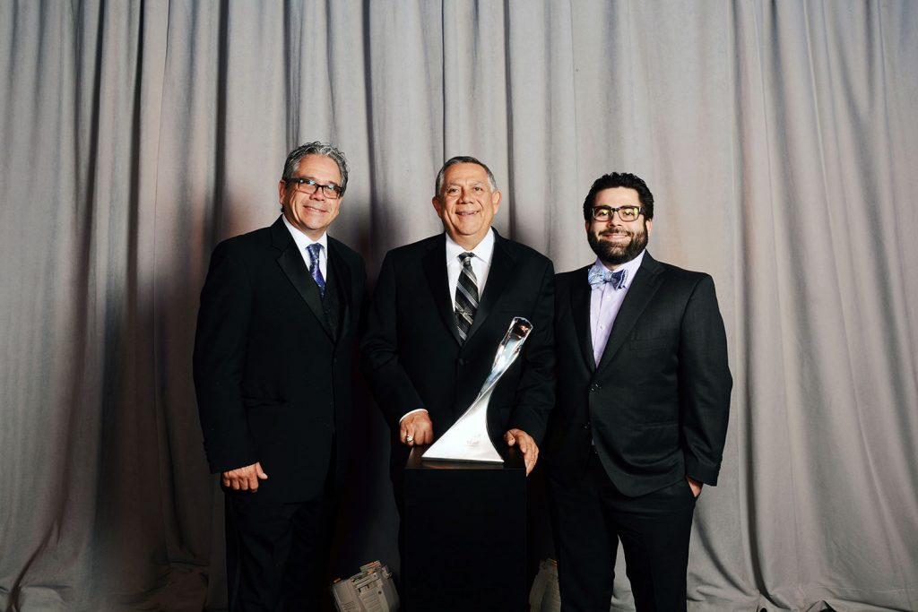 Loren, Frank and Jesse Venegas with Ideal Setech's 2016 GM Supplier of the Year Award